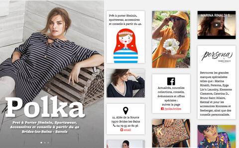 Polka, Brides-les-Bains Prêt à porter féminin, sportswear, accessoires et conseils à partir du 42.