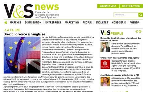V&S NEWS - Actualité économique des vins & spiritueux